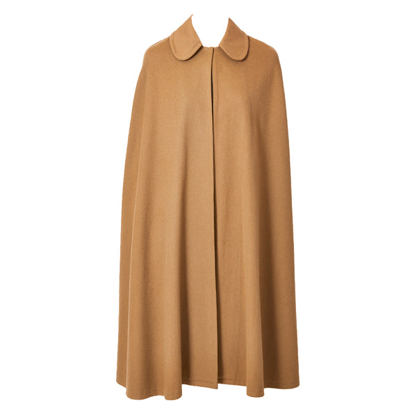 Yves Saint Laurent Camel Wool Cape