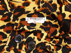 Yves Saint Laurent Leopard Print Blouse