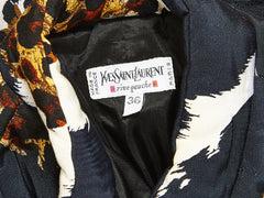 Yves Saint Laurent Quilted Animal Print Bomber Jacket