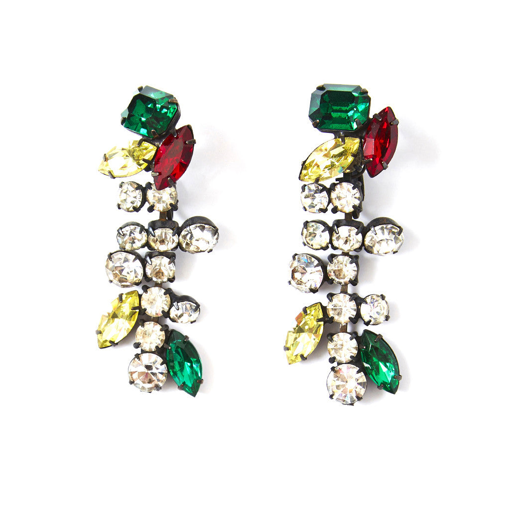 Yves Saint Laurent Colored Stones Drop Earrings