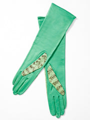 Yves Saint Laurent Python and Leather Gloves