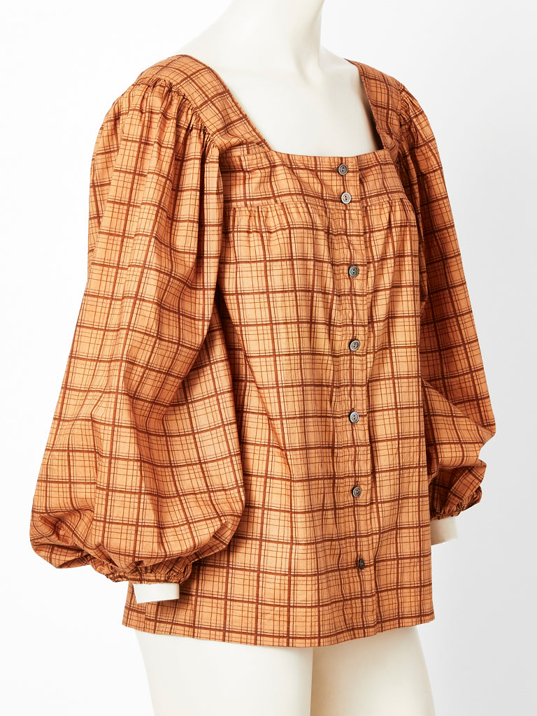 Yves Saint Laurent Smock Blouse