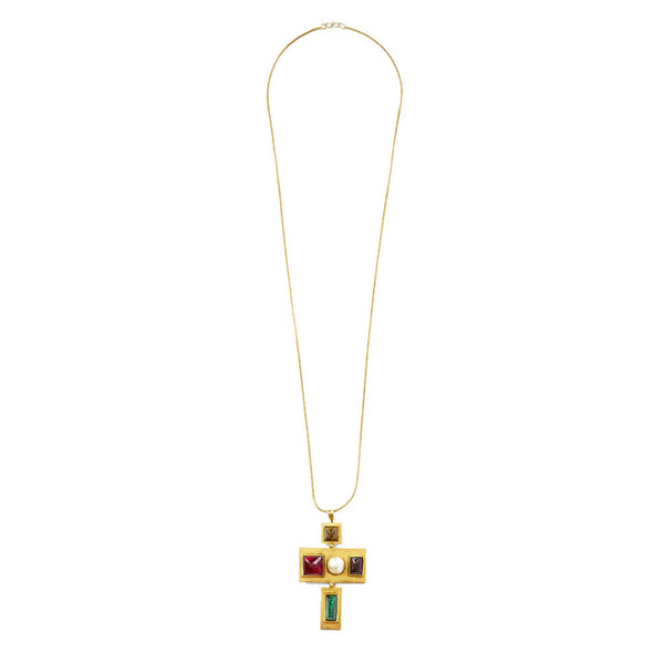 Roger Scemama for Yves Saint Laurent Jeweled Cross