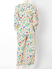 Yves Saint Laurent Abstract Pattern Jumpsuit