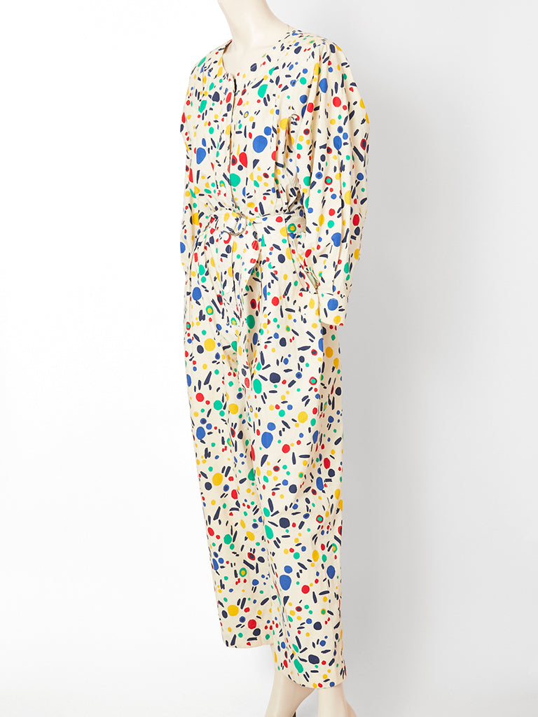 239861790c6 Yves Saint Laurent Abstract Pattern Jumpsuit – marlenewetherell.com