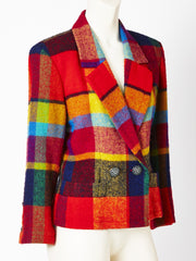 Yves Saint Laurent Colorful Plaid Jacket