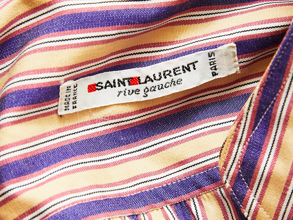 Yves Saint Laurent Muted Tones Stripe Cotton Shirt