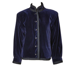 Yves Saint Laurent Velvet Chinese Collection Jacket