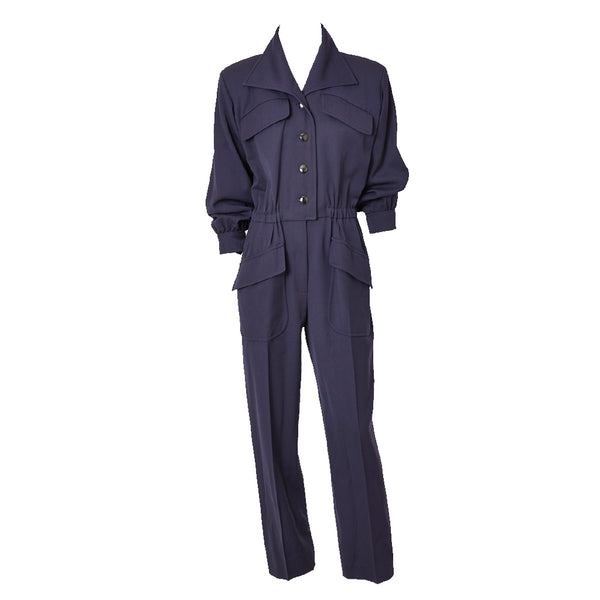 Yves Saint Laurent Gabardine Jumpsuit