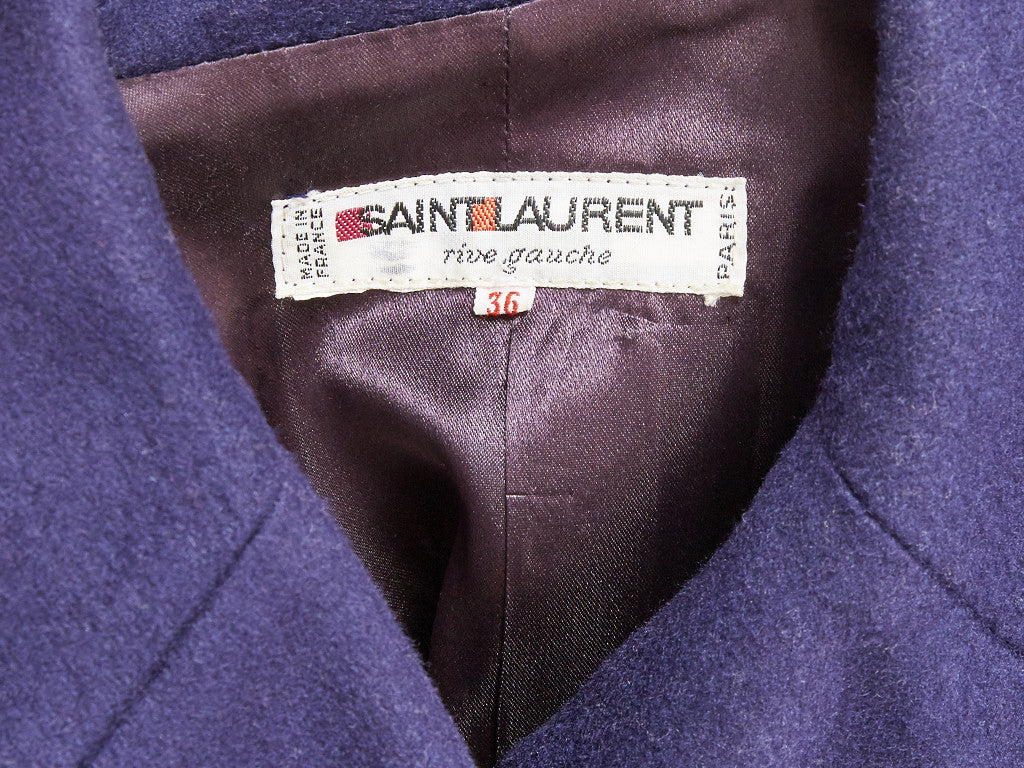 Yves Saint Laurent Double Breasted Peacoat