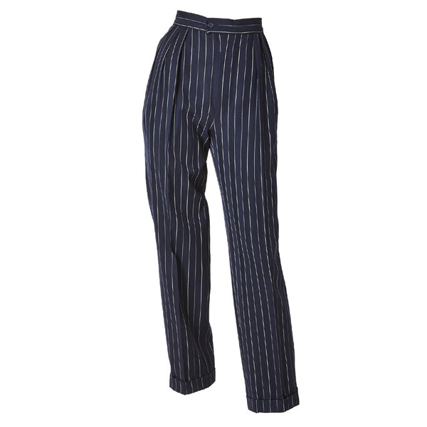Yves Saint Laurent Navy Pinstripe Trouser