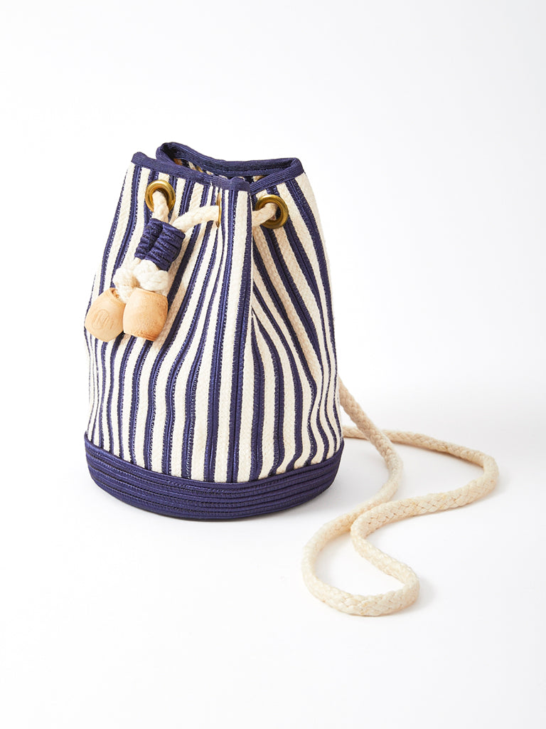 Yves Saint Laurent  Rive Gauche Nautical Stripe Drawstring Bag