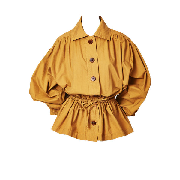 Yves Saint Laurent DrawString Waist Jacket