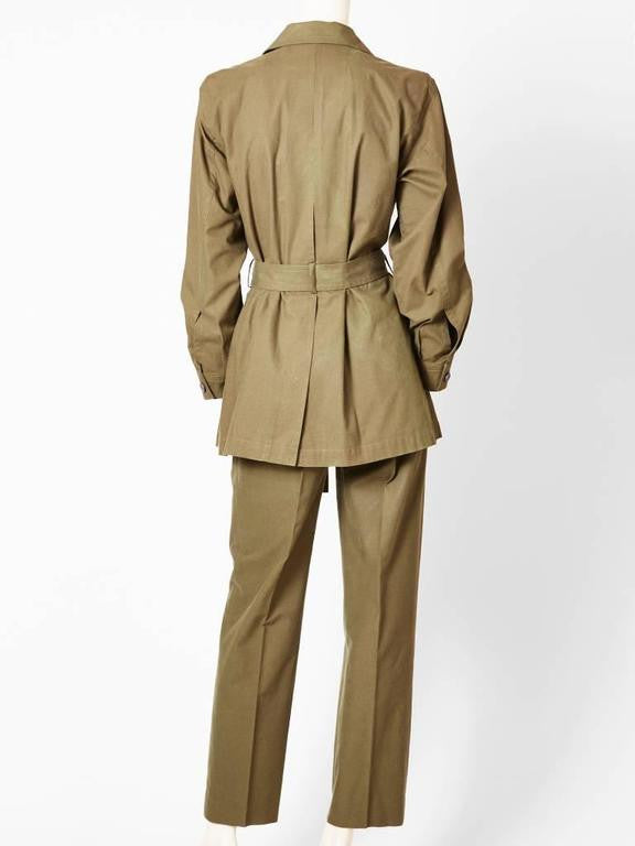 Yves Saint Laurent Safari Pant Suit