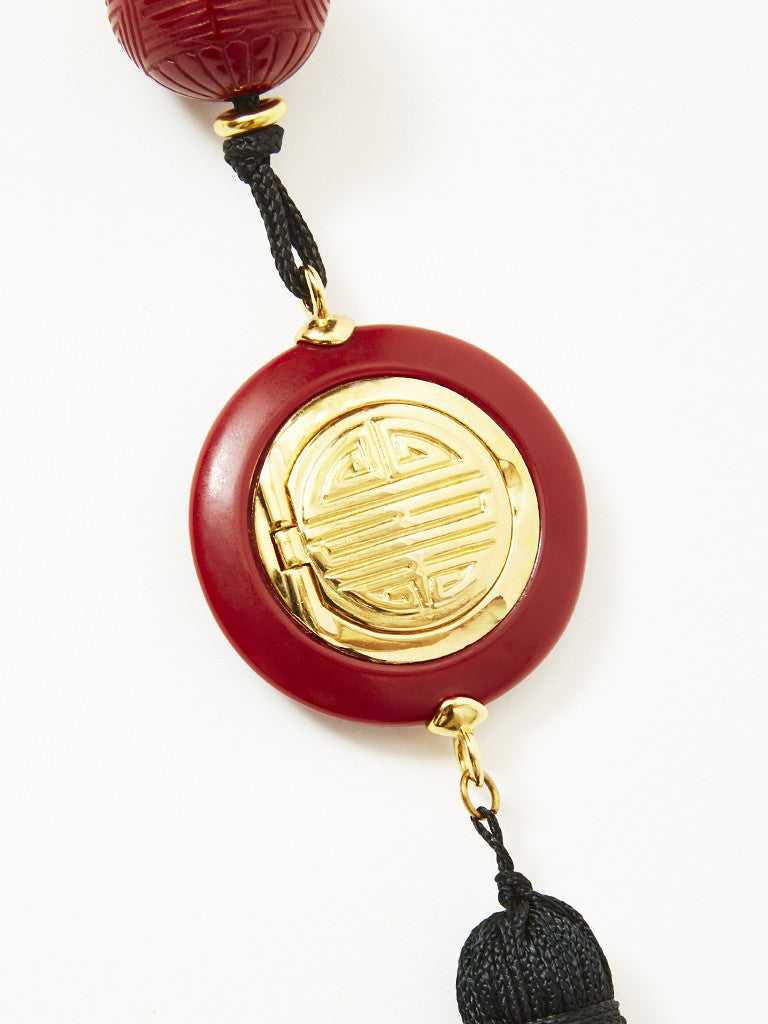 Yves Saint Laurent Opium Perfume Pendent Necklace