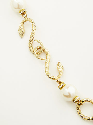 f9adfc19382 ... Yves Saint Laurent Snake Necklace with Baroque Pearls ...