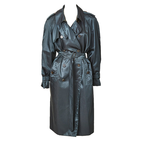 Yves Saint Laurent Petrol Green Trench