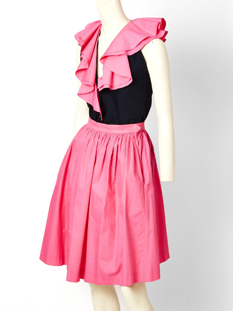 Yves Saint Laurent Pink and Black Cotton Ensemble