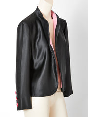 Yves Saint Laurent Couture Satin Evening Jacket