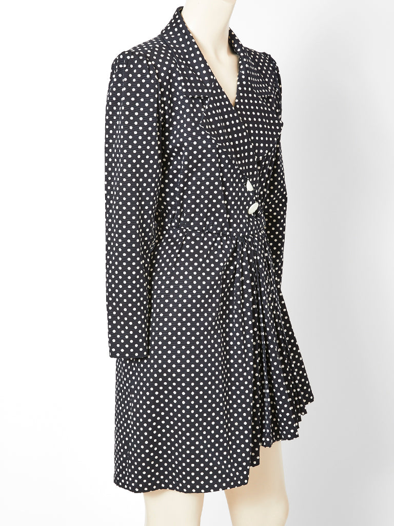 Yves Saint Laurent Polka Dot Wrap Dress