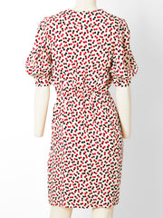 Yves Saint Laurent Rive Gauche Polka Dot Silk Day Dress