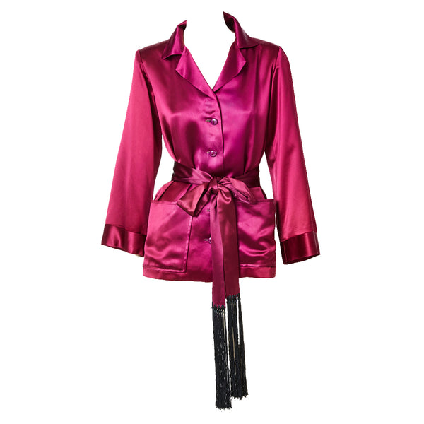 Yves Saint Laurent Satin Smoking Jacket