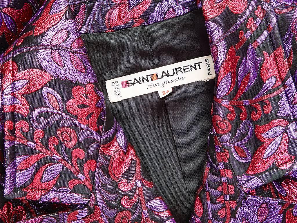 Yves Saint Laurent Brocade Spencer Jacket
