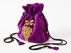 Yves Saint Laurent Suede Drawstring Bag
