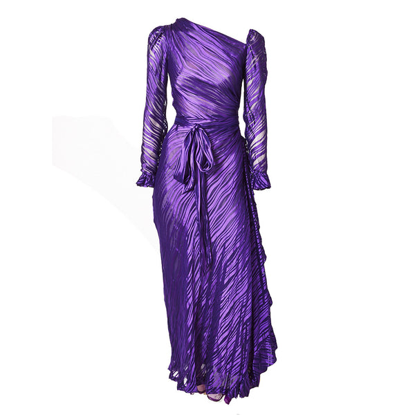 Yves Saint Laurent Chiffon Bias Cut Gown