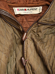 Yves Saint Laurent Iconic Hooded Quilted Jacket