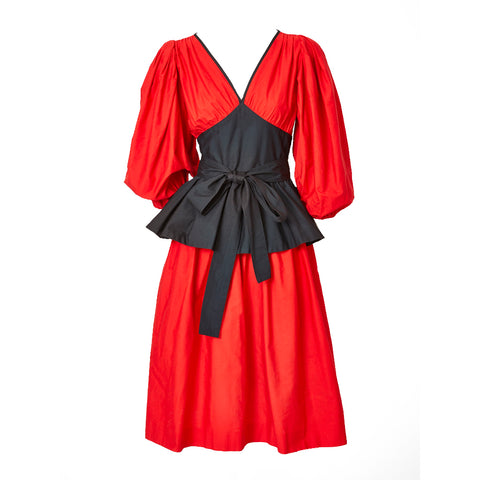 Yves Saint Laurent Day Dress with Peplum