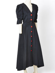 Yves Saint Laurent Moire 40's Inspired Gown