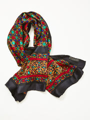 "Yves Saint Laurent ""Jewel"" Motif Silk Scarf"