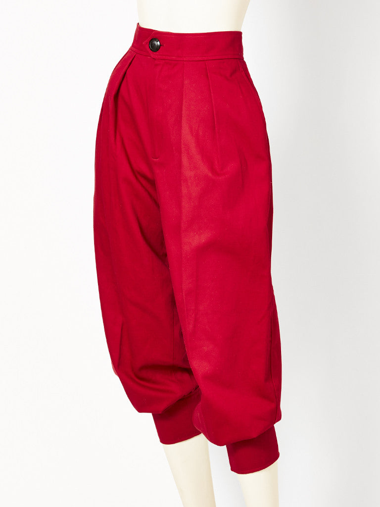 Yves Saint Lauent Red Trouser