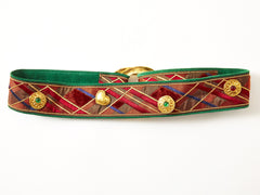 Yves Saint Laurent Plaid Belt With Charms