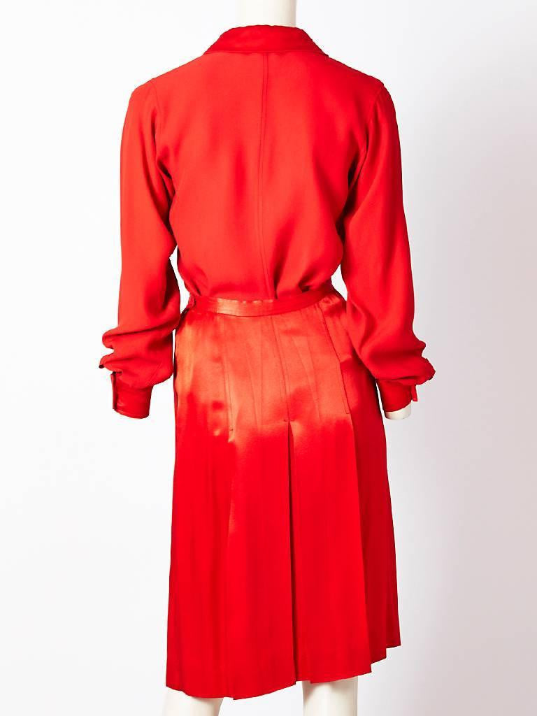 Yves Saint Laurent Satin Back Crepe Ensemble