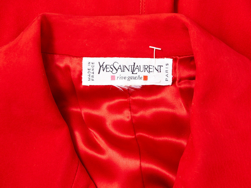 Yves Saint Laurent Suede Vest With Passementerie