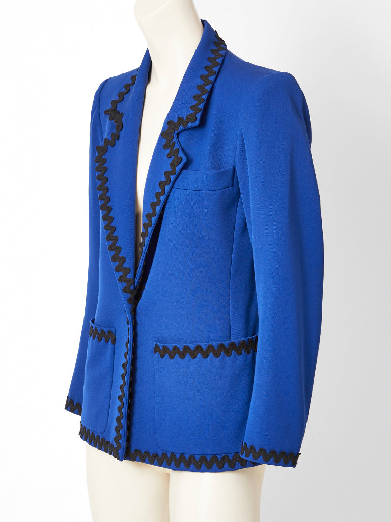 Yves Saint Laurent Blazer with Rick Rack Detail