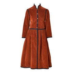 Yves Saint Laurent Russian Collection Corduroy Coat