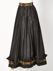 Yves Saint Laurent Russian Collection Taffeta Skirt