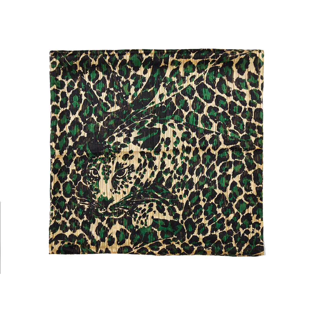 Yves Saint Laurent Silk Leopard Scarf