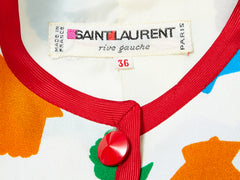 Yves Saint Laurent Rive Gauche Shell Pattern Cropped Jacket