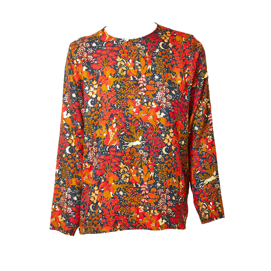 Yves Saint Laurent Persian Pattern Silk Blouse Marlenewetherell Com