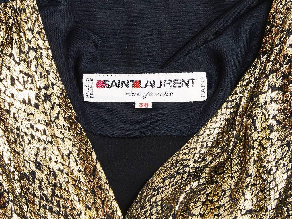 Yves Saint Laurent Jersey and Gold Lame Dress