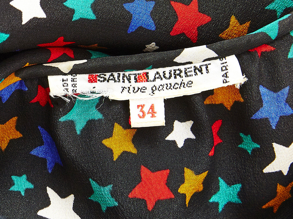 Yves Saint Laurent Star Pattern Silk Blouse
