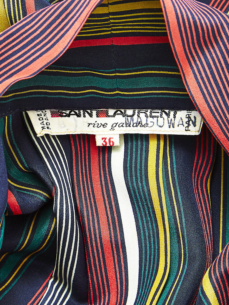 Yves Saint Laurent Striped Day Dress