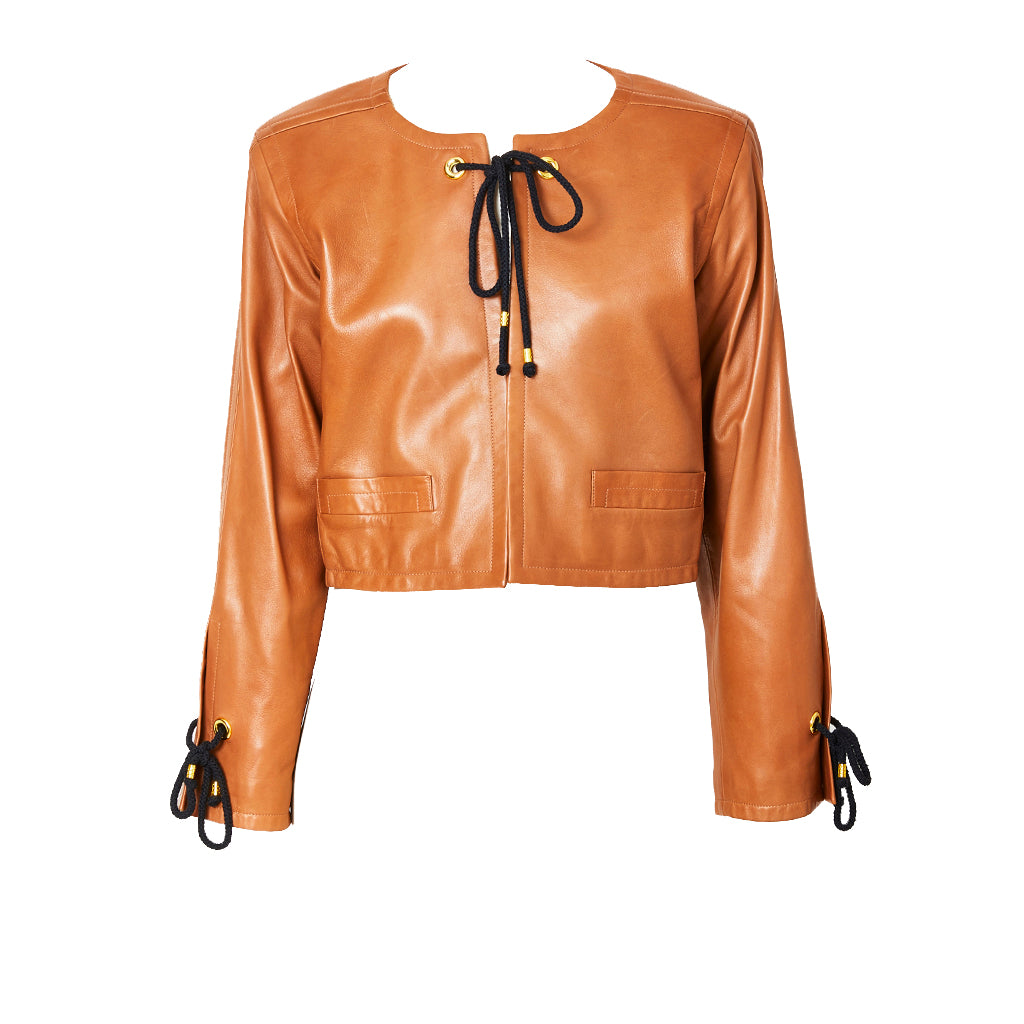 Yves Saint Laurent Cropped Leather Jacket