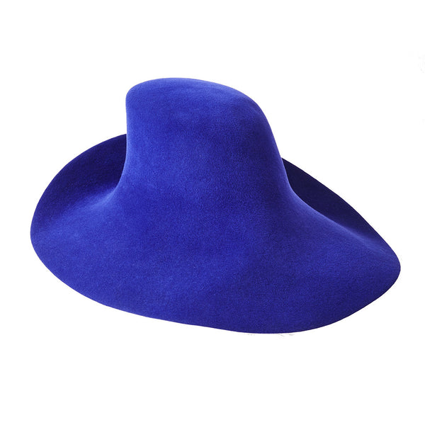 Yves Saint Laurent Asymmetrical Oversized Fedora