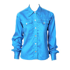 Yves Saint Laurent Western Inspired Cotton Polka Dot Shirt