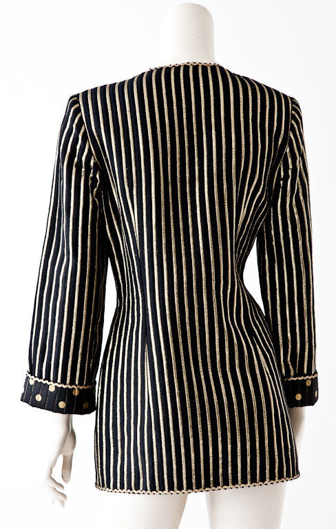 Geoffrey Beene Dots + Stripes Evening jacket